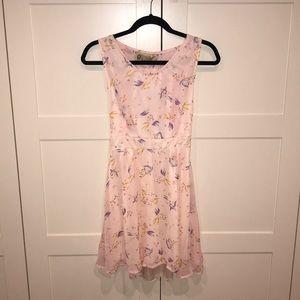 NWT Asos pink patterned dress